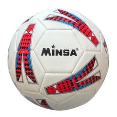 Мяч футбольный Minsa 9014 (red)