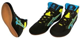 Обувь для борьбы Crouse JY-803 (чёрно-синие)